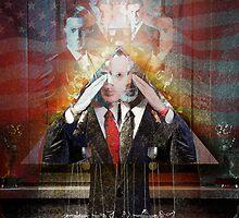 Remastered Portrait of Stephen Colbert by Alex Preiss