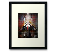 Remastered Portrait of Stephen Colbert Framed Print