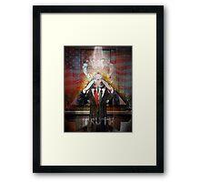 Remastered Portrait of Stephen Colbert Framed Print