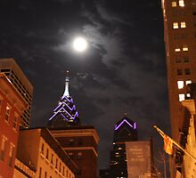 Moon Over Market Street by Joe Jennelle