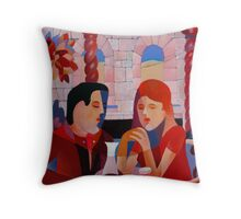 THE DINERS II Throw Pillow