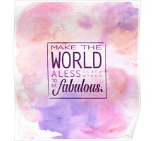 Fabulous Words Poster