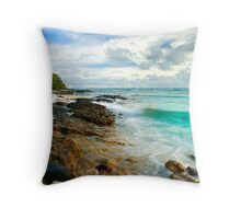 Slow Motion Ocean - Cocos (Keeling) Islands Throw Pillow