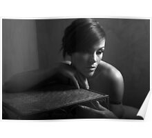 Naomee in solitude B&W Poster