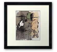 paper up the cracks Framed Print