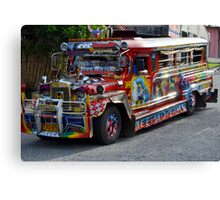 The Philippine Jeepney Canvas Print