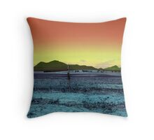 Stirling Ranges behind old fence Throw Pillow