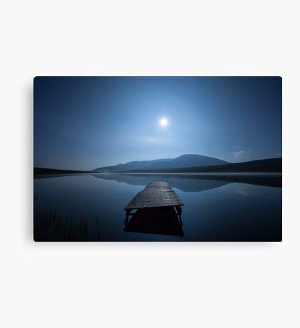 Moon over Lough Aubha Canvas Print
