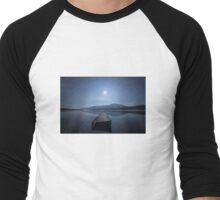 Moon over Lough Aubha Men's Baseball ¾ T-Shirt