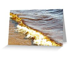 Golden wave Greeting Card