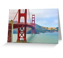 Golden Gate Bridge, San Francisco Greeting Card