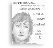 I Was So Afraid of Becoming My Dad - HtTYD 2 Quote Canvas Print