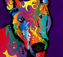Bull Terrier by Michael Tompsett