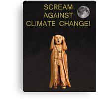 Scream Against Climate Change Canvas Print