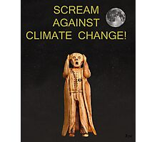 Scream Against Climate Change Photographic Print