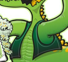 Saint Patrick's Day Crocodile Drinking Beer Sticker