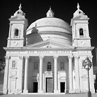 Mgarr Church, Malta in IR by David W. Harris
