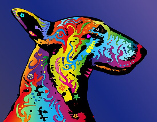 Bull Terrier by ArtPrints