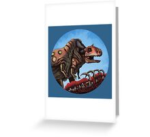 Dinosaur Cannibalism Greeting Card