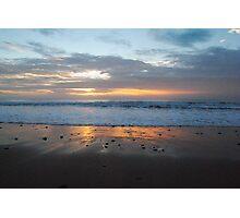 Small Pebbles, Small Waves and A Sunrise - Apollo Bay, Victoria Photographic Print