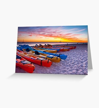 Sunrise, Monkey Mia Greeting Card