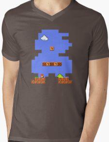 Super Mario Retro Mens V-Neck T-Shirt