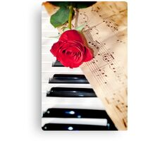 rose and music Canvas Print