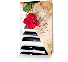 rose and music Greeting Card