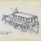 Shillibeer's Omnibus (pencil sketch 1955) by wippapics