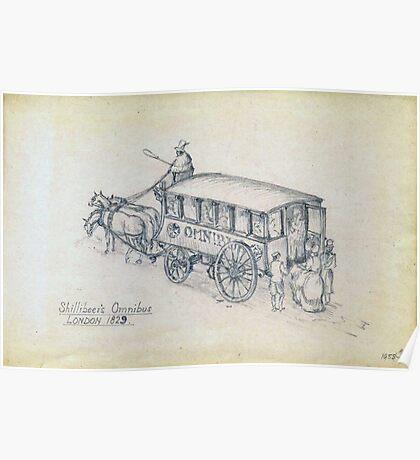 Shillibeer's Omnibus (pencil sketch 1955) Poster