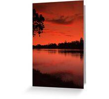 Lake Weeroona, Evening Still. Greeting Card