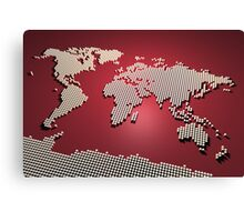 World Map in Red Canvas Print