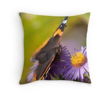 The Red Admiral Throw Pillow