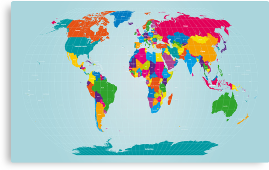 World Map  by Michael Tompsett