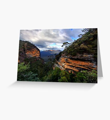 Green Canyon Greeting Card