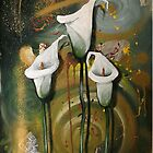 White Lilies - Finding Beauty in Chaos Series by Cherie Roe Dirksen