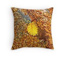 Premature Autumn Aspen Leaf Throw Pillow
