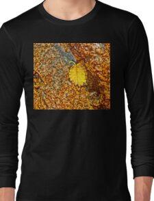 Premature Autumn Aspen Leaf Long Sleeve T-Shirt