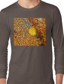 Premature Autumn Aspen Leaf Long Sleeve T-Shirt