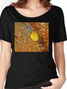 Premature Autumn Aspen Leaf Women's Relaxed Fit T-Shirt