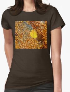 Premature Autumn Aspen Leaf Womens Fitted T-Shirt