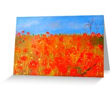 Poppies in the field (oil on canvas) Greeting Card