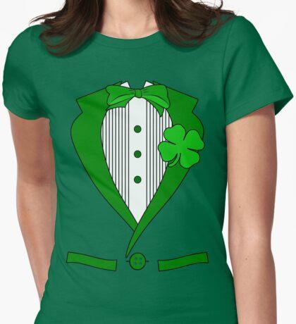 Irish Tuxedo Womens Fitted T-Shirt