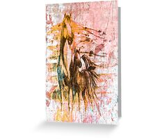 Horses. Greeting Card