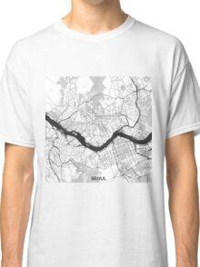 Seoul Map Gray Classic T-Shirt