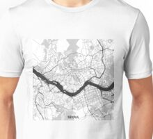 Seoul Map Gray Unisex T-Shirt