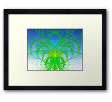 Elliptic Splits Palm Tree  (UF0135) Framed Print