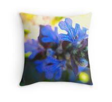Blue Nemesia Throw Pillow