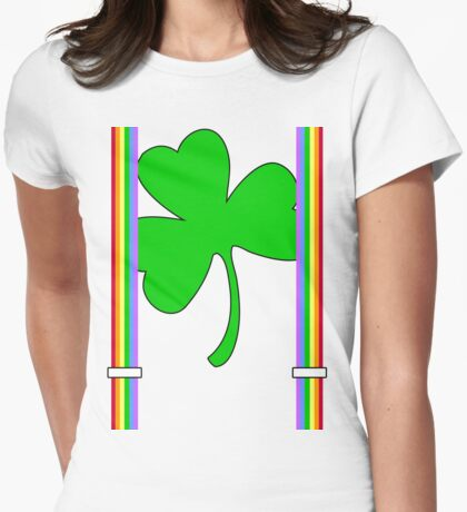 Suspended Clover Womens Fitted T-Shirt