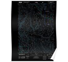 USGS Topo Map Oregon Lehman Springs 20110822 TM Inverted Poster